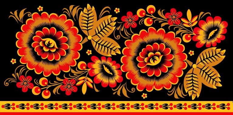 Хохломская роспись самоваров